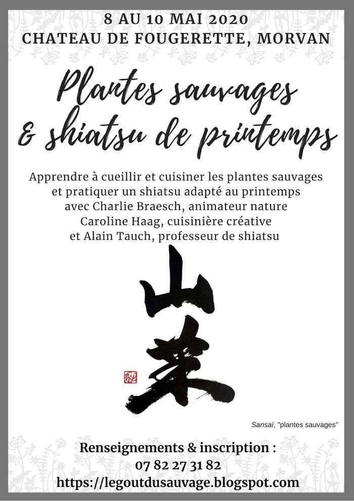 Stage plantes et shiatsu de printemps